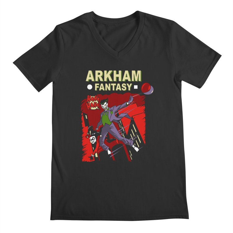 Arkham Fantasy  Men's Regular V-Neck by foureyedesign's shop