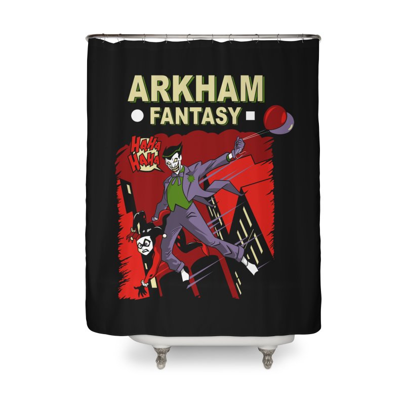 Arkham Fantasy  Home Shower Curtain by foureyedesign's shop