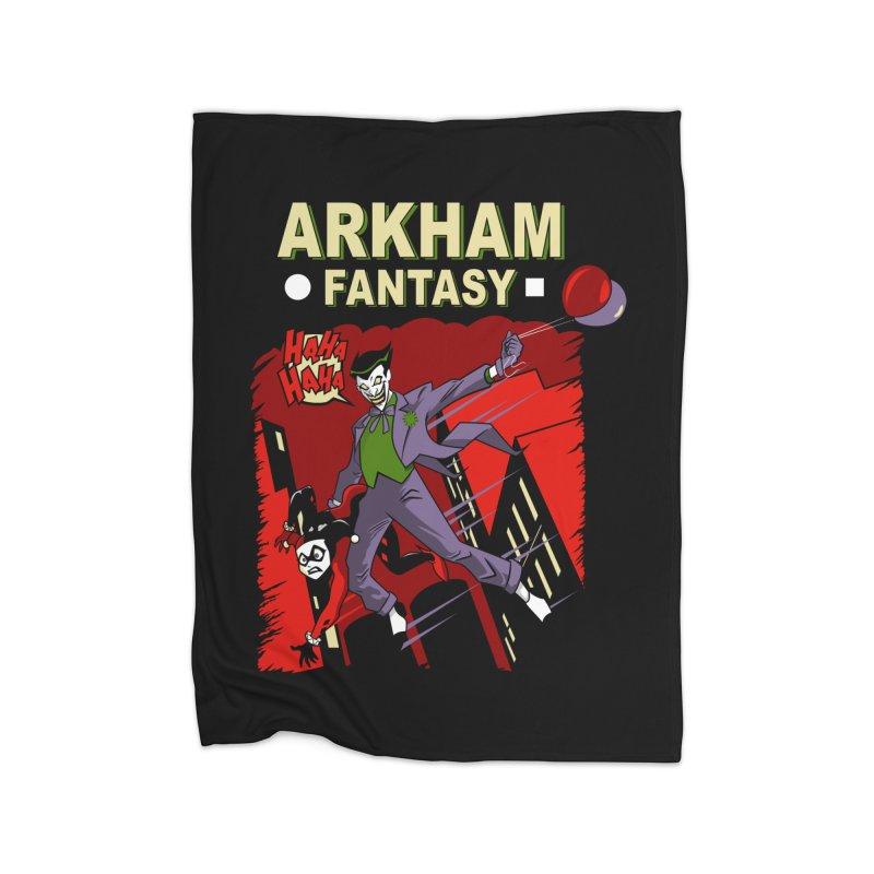Arkham Fantasy  Home Blanket by foureyedesign's shop