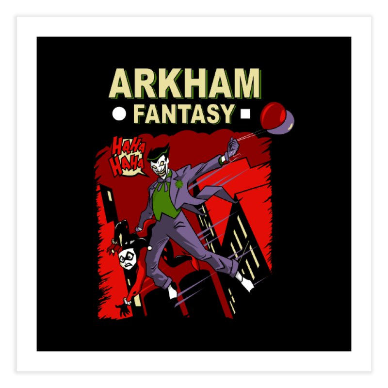Arkham Fantasy  Home Fine Art Print by foureyedesign's shop