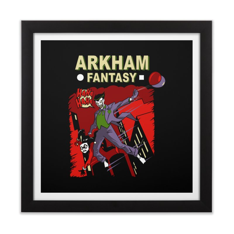 Arkham Fantasy  Home Framed Fine Art Print by foureyedesign's shop