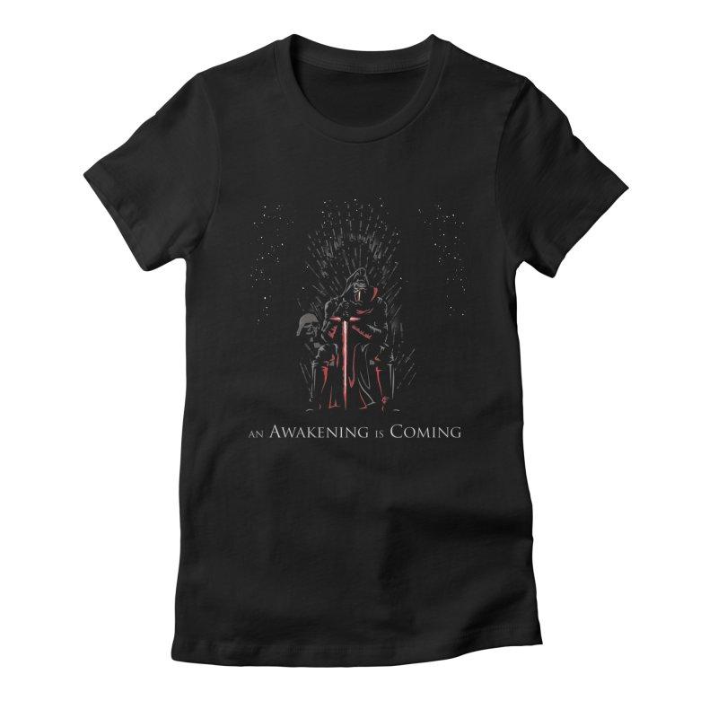 An Awakening is Coming Women's T-Shirt by foureyedesign shop