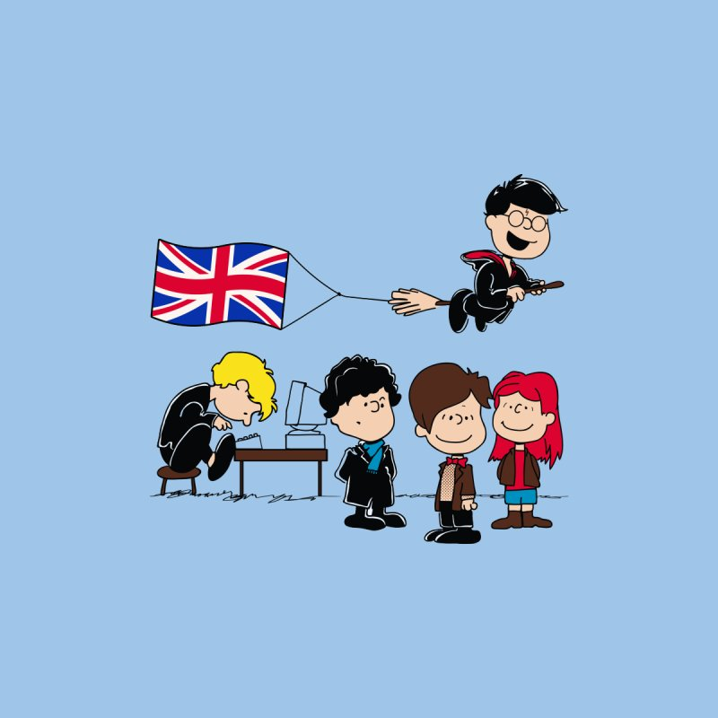Brit Peanuts Kids T-Shirt by foureyedesign shop