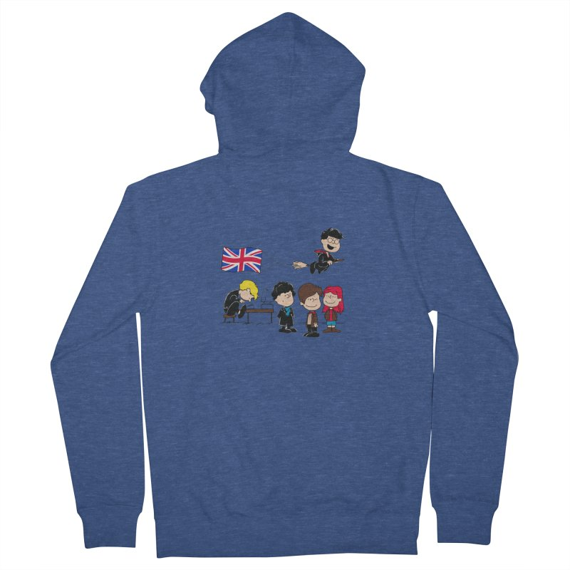 Brit Peanuts Men's Zip-Up Hoody by foureyedesign's shop