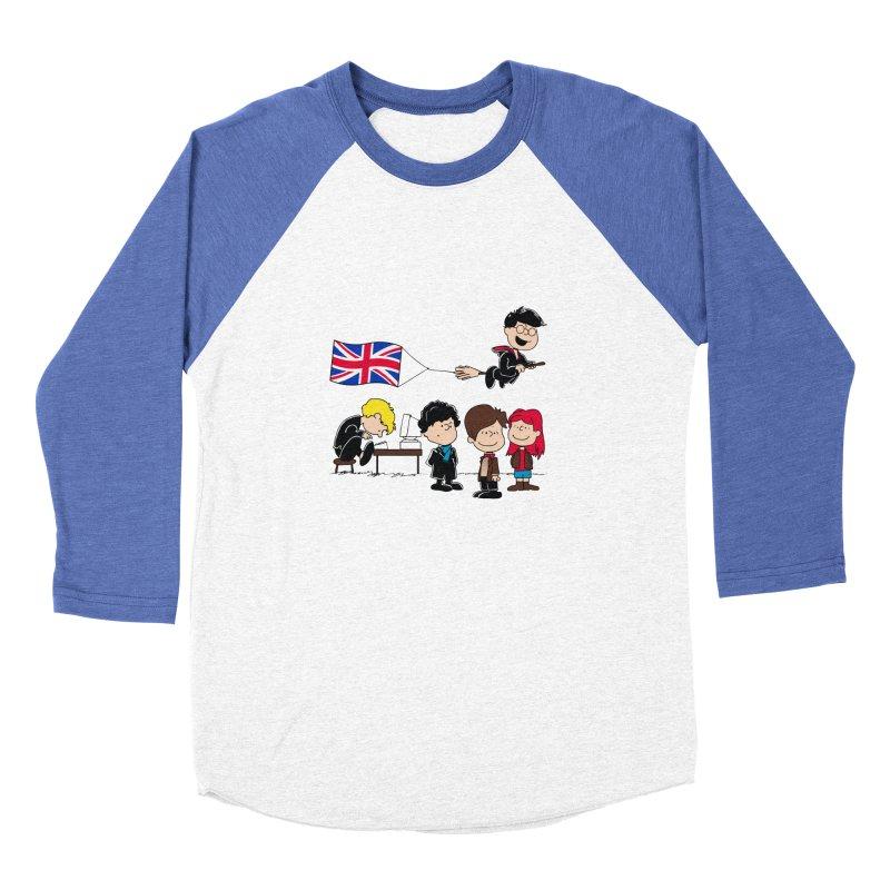 Brit Peanuts Men's Baseball Triblend T-Shirt by foureyedesign's shop