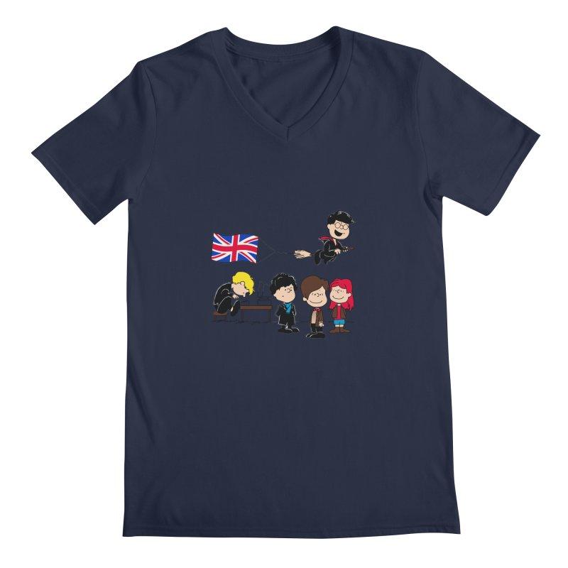 Brit Peanuts Men's V-Neck by foureyedesign's shop