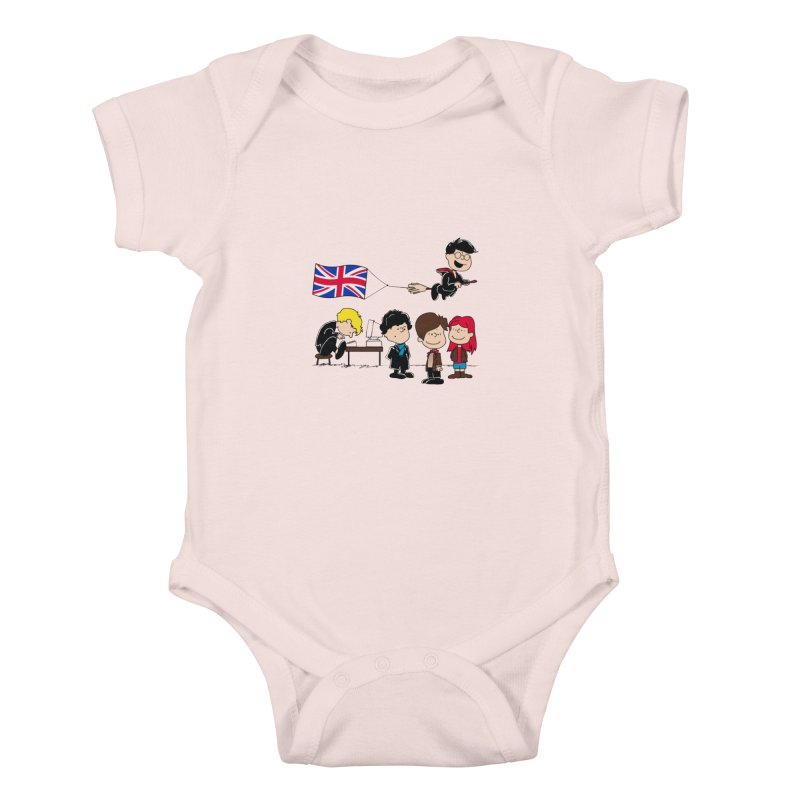 Brit Peanuts Kids Baby Bodysuit by foureyedesign's shop
