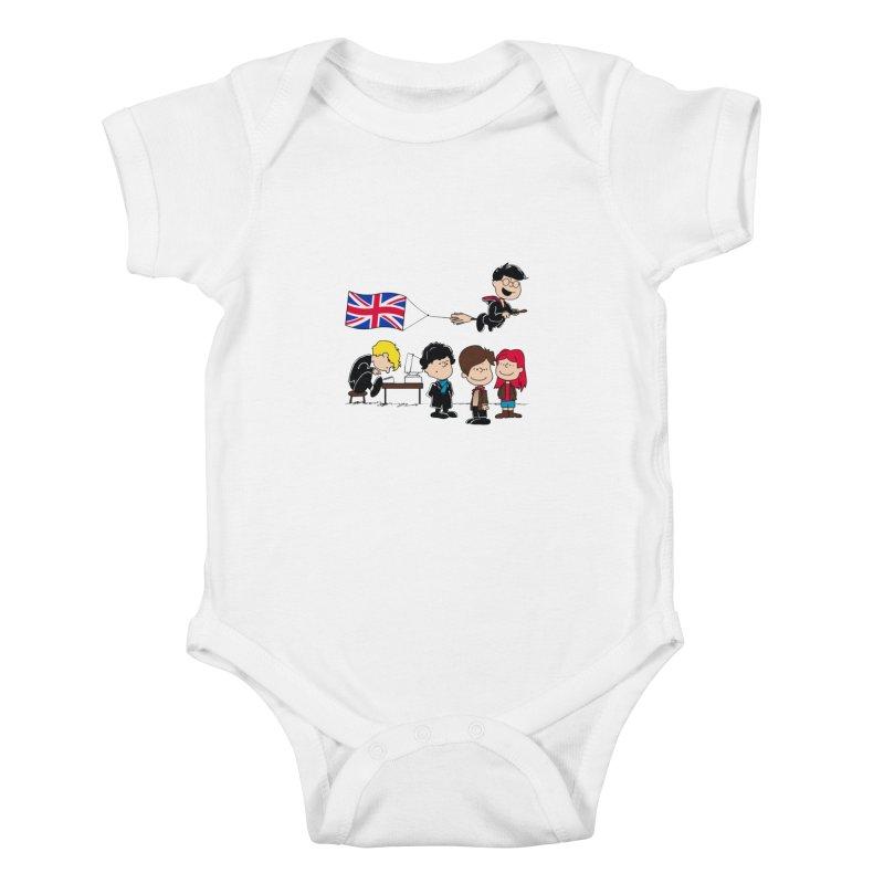 Brit Peanuts Kids Baby Bodysuit by foureyedesign's shop