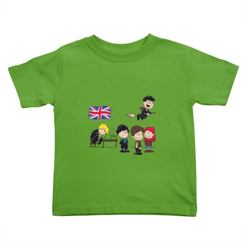 Brit Peanuts Kids Toddler T-Shirt by foureyedesign shop