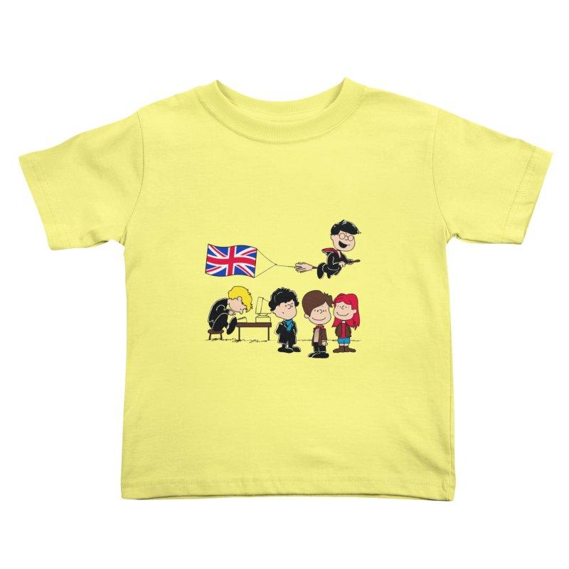 Brit Peanuts Kids Toddler T-Shirt by foureyedesign's shop