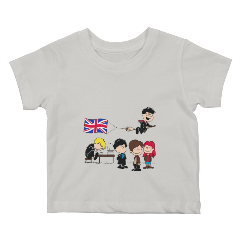 Brit Peanuts Kids Baby T-Shirt by foureyedesign's shop
