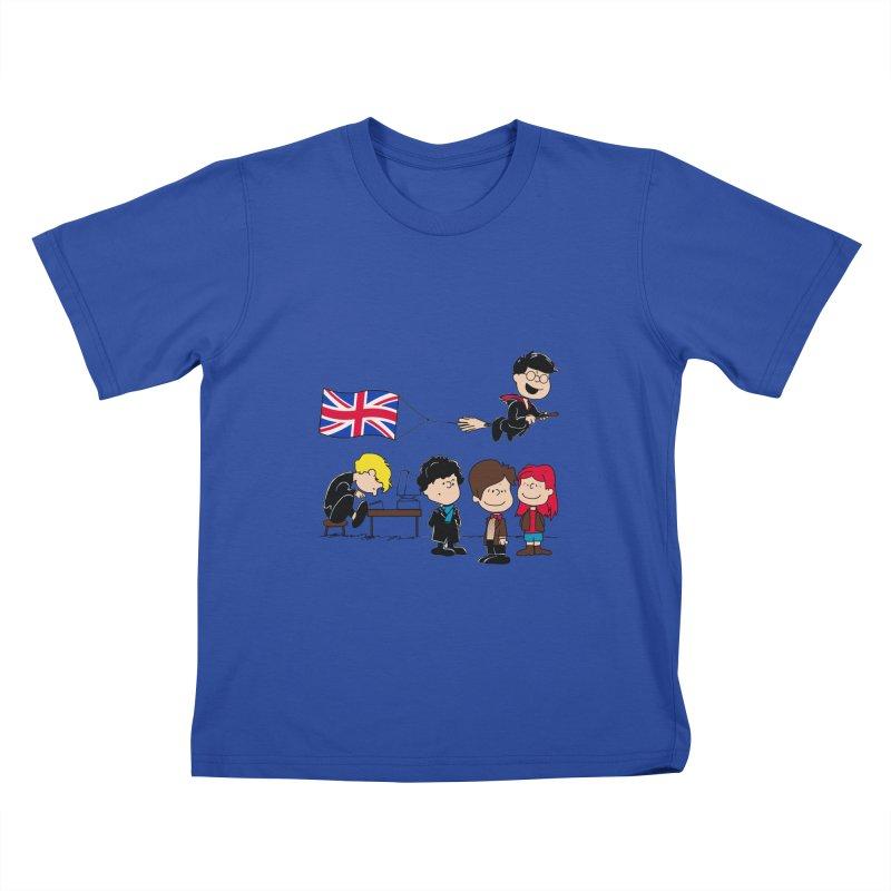 Brit Peanuts Kids T-Shirt by foureyedesign's shop