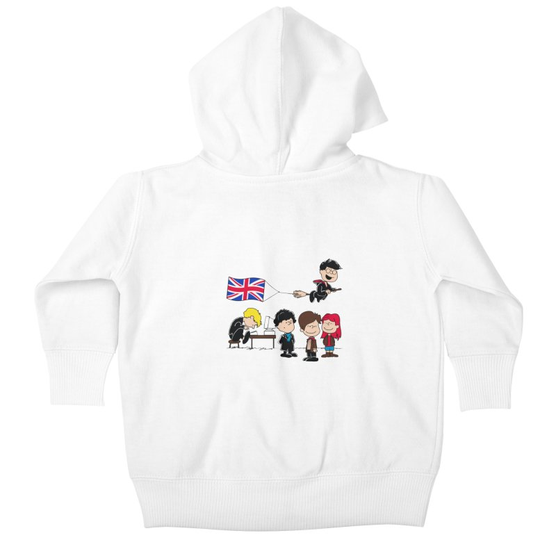 Brit Peanuts Kids Baby Zip-Up Hoody by foureyedesign's shop