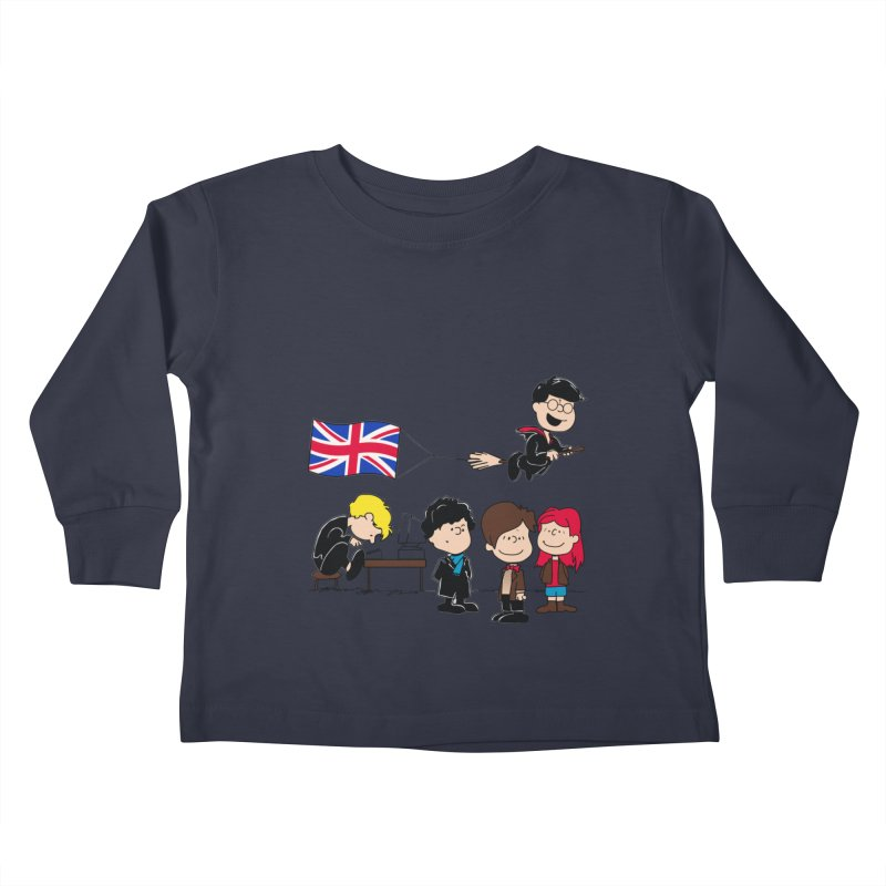 Brit Peanuts Kids Toddler Longsleeve T-Shirt by foureyedesign's shop