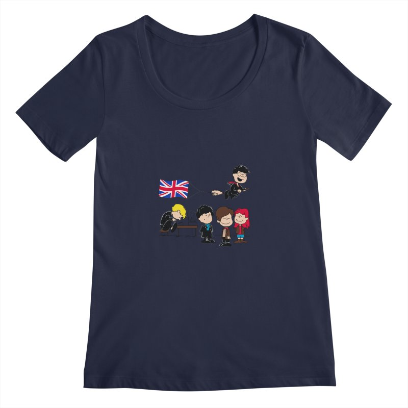 Brit Peanuts Women's Regular Scoop Neck by foureyedesign's shop