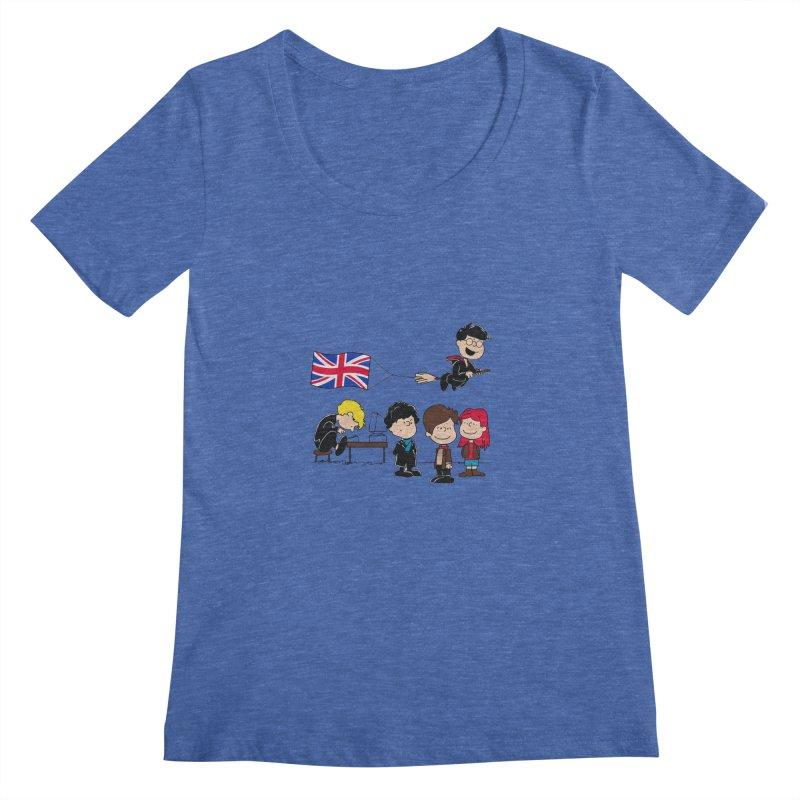 Brit Peanuts Women's Scoopneck by foureyedesign's shop