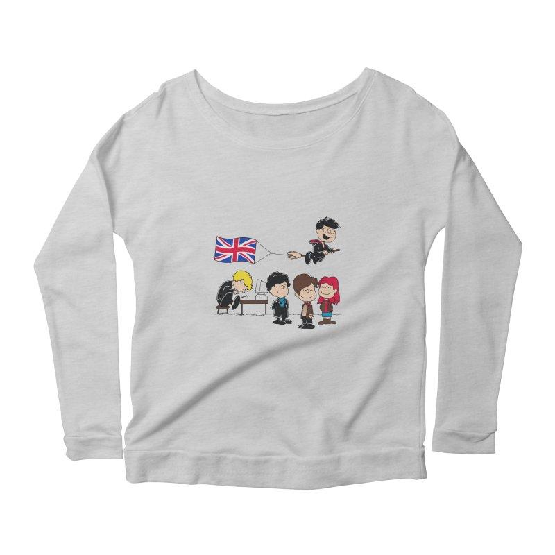 Brit Peanuts Women's Scoop Neck Longsleeve T-Shirt by foureyedesign's shop
