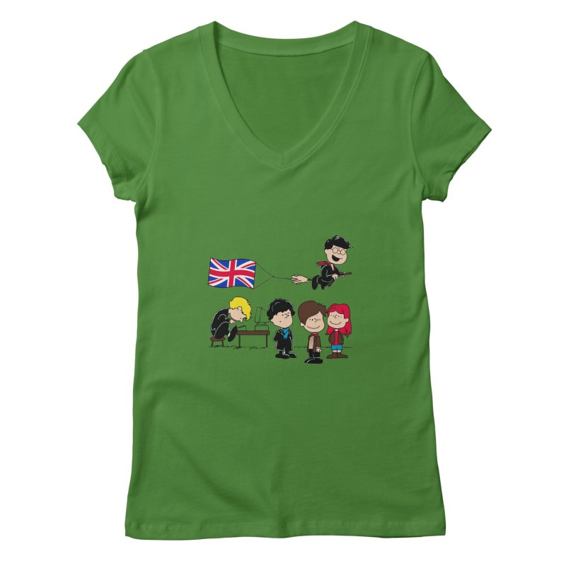 Brit Peanuts Women's Regular V-Neck by foureyedesign's shop