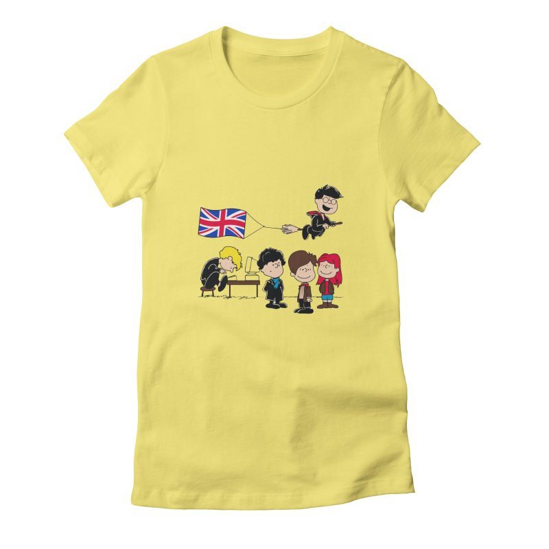 Brit Peanuts Women's Fitted T-Shirt by foureyedesign's shop