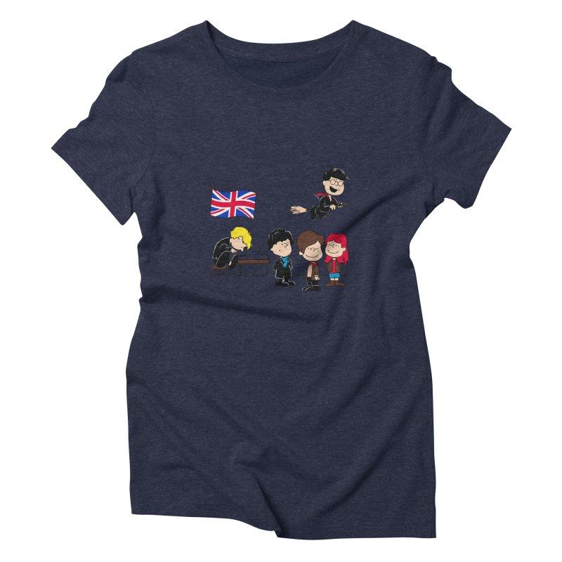Brit Peanuts Women's Triblend T-Shirt by foureyedesign's shop
