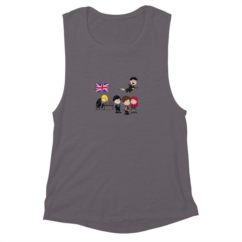 Brit Peanuts Women's Muscle Tank by foureyedesign's shop