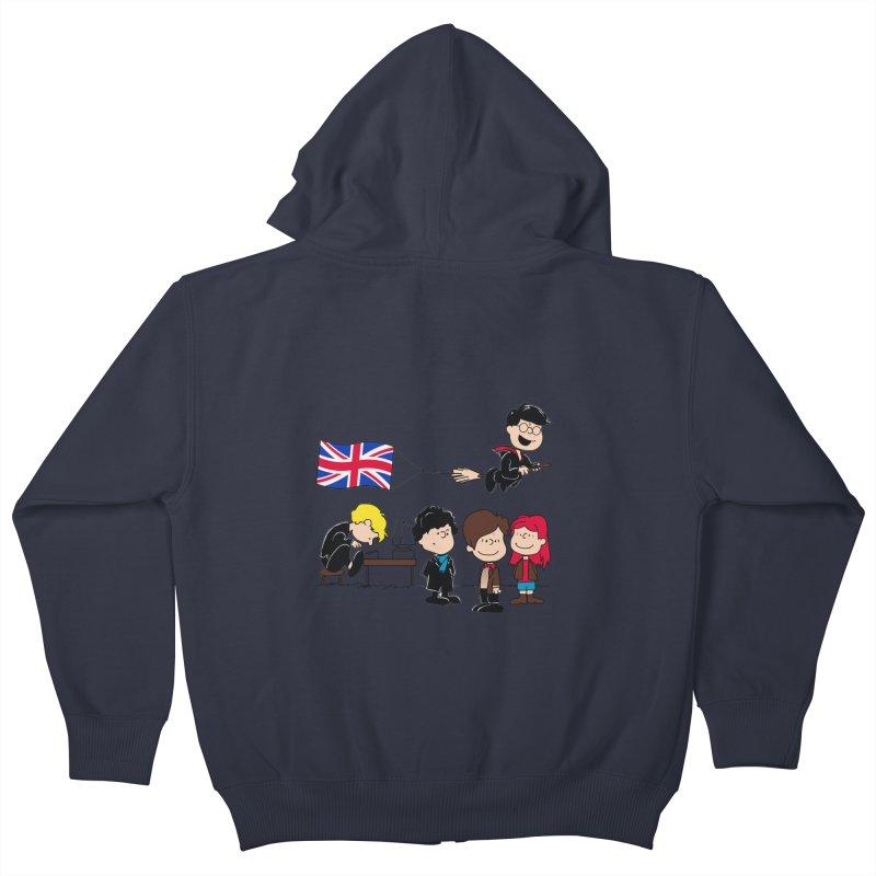 Brit Peanuts Kids Zip-Up Hoody by foureyedesign's shop