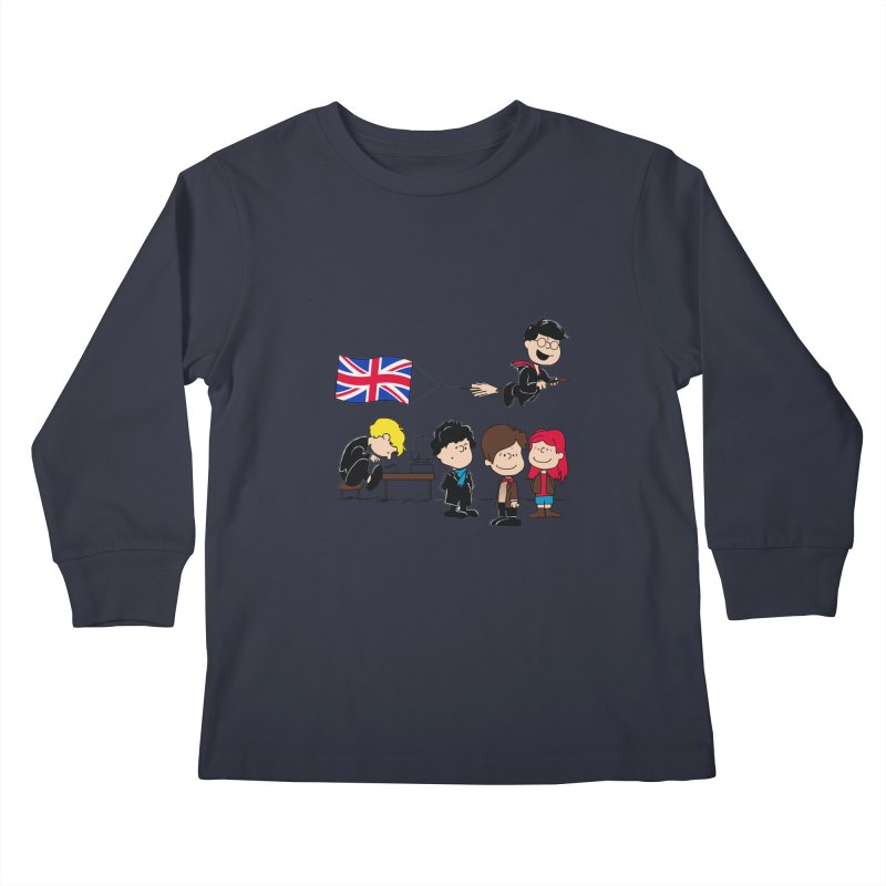 Brit Peanuts Kids Longsleeve T-Shirt by foureyedesign's shop