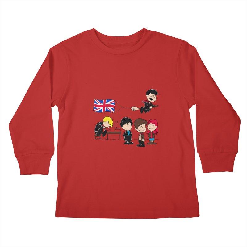 Brit Peanuts Kids Longsleeve T-Shirt by foureyedesign's shop