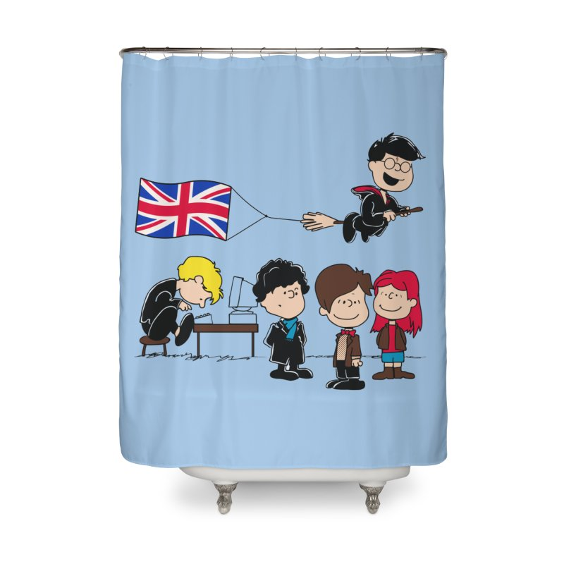 Brit Peanuts Home Shower Curtain by foureyedesign's shop