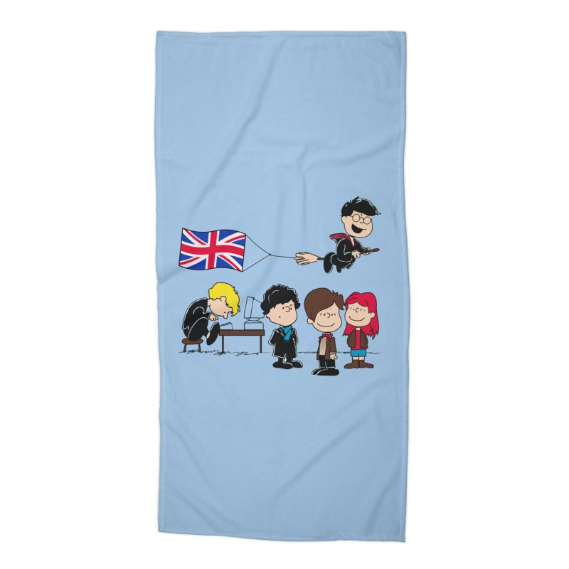 Brit Peanuts Accessories Beach Towel by foureyedesign's shop