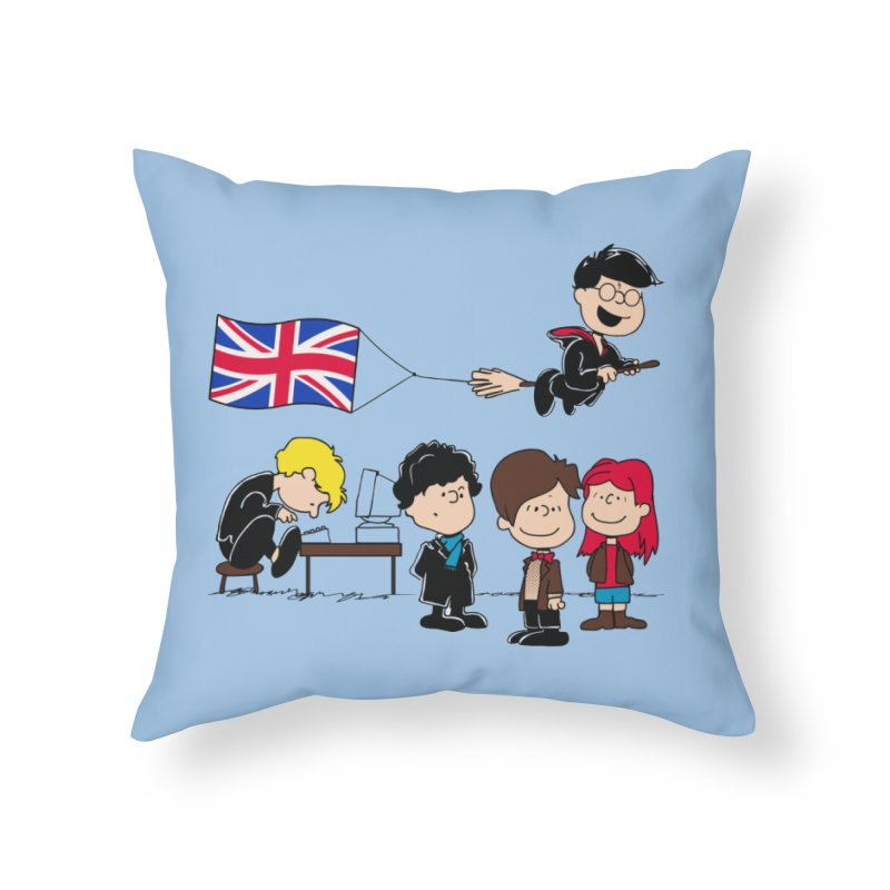 Brit Peanuts Home Throw Pillow by foureyedesign's shop