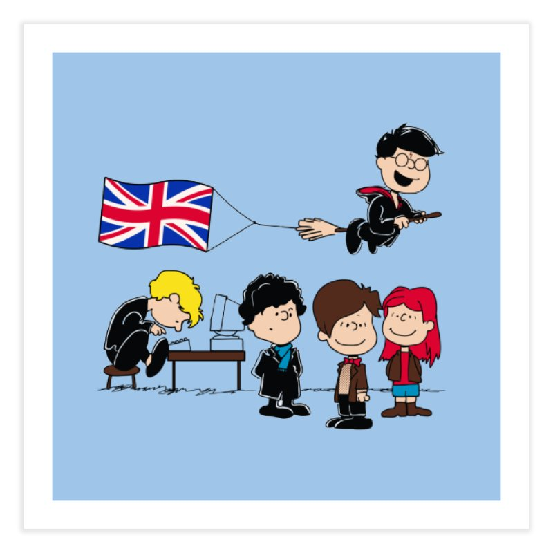 Brit Peanuts Home Fine Art Print by foureyedesign's shop