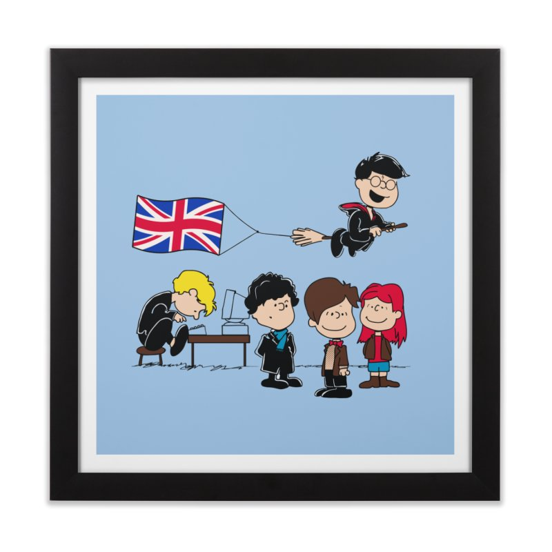 Brit Peanuts Home Framed Fine Art Print by foureyedesign's shop