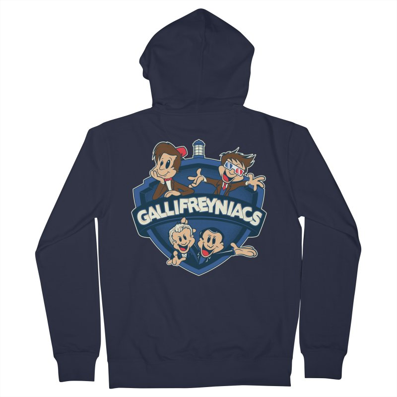 Gallifreyniacs Men's Zip-Up Hoody by foureyedesign's shop