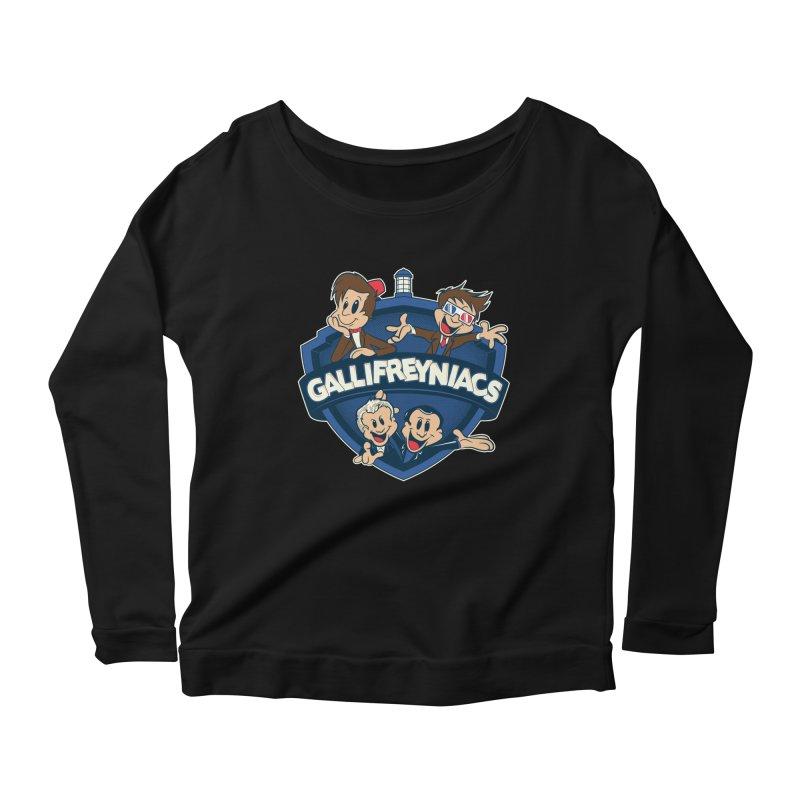 Gallifreyniacs Women's Longsleeve Scoopneck  by foureyedesign's shop