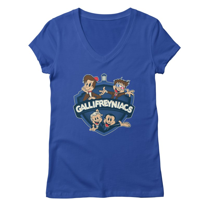 Gallifreyniacs Women's Regular V-Neck by foureyedesign's shop