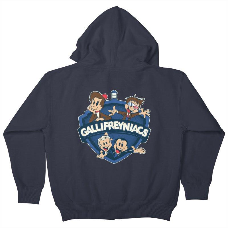 Gallifreyniacs Kids Zip-Up Hoody by foureyedesign's shop