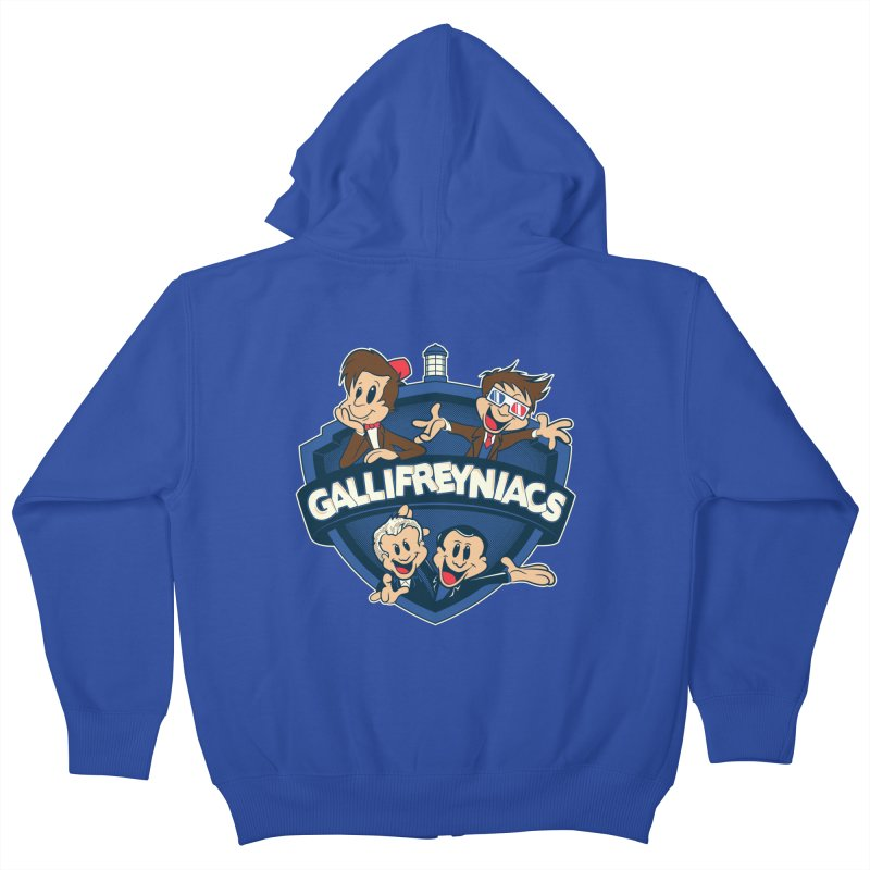 Gallifreyniacs Kids Zip-Up Hoody by foureyedesign's shop