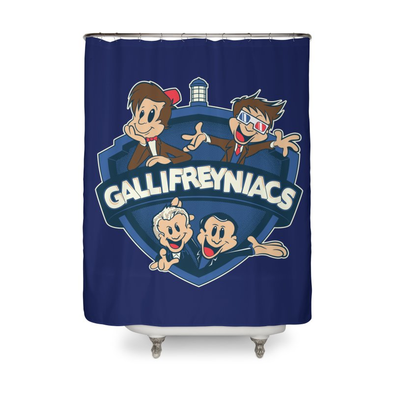 Gallifreyniacs Home Shower Curtain by foureyedesign's shop