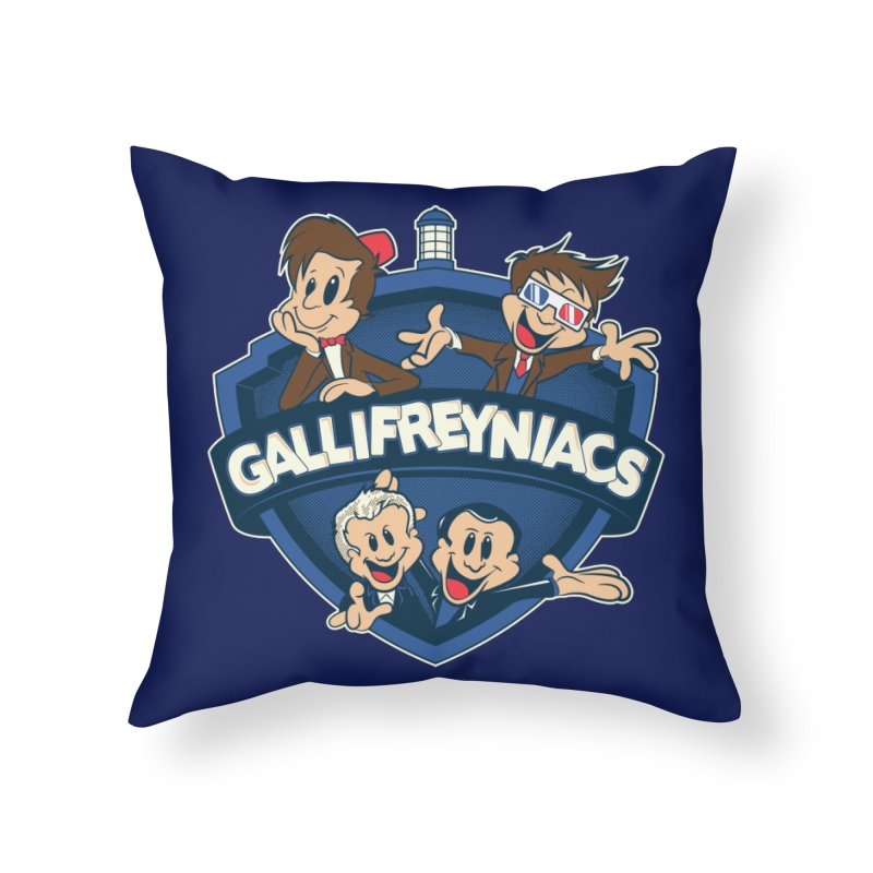 Gallifreyniacs Home Throw Pillow by foureyedesign's shop