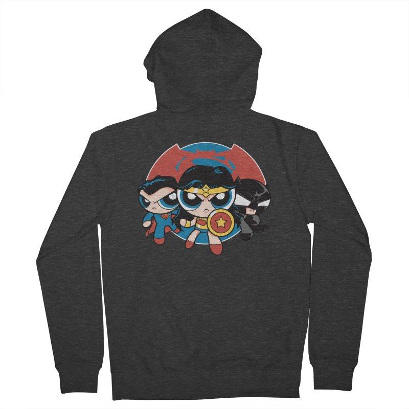 Powderpuff Trinity Men's Zip-Up Hoody by foureyedesign's shop