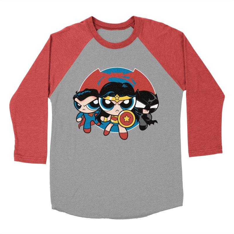 Powderpuff Trinity Men's Baseball Triblend T-Shirt by foureyedesign's shop