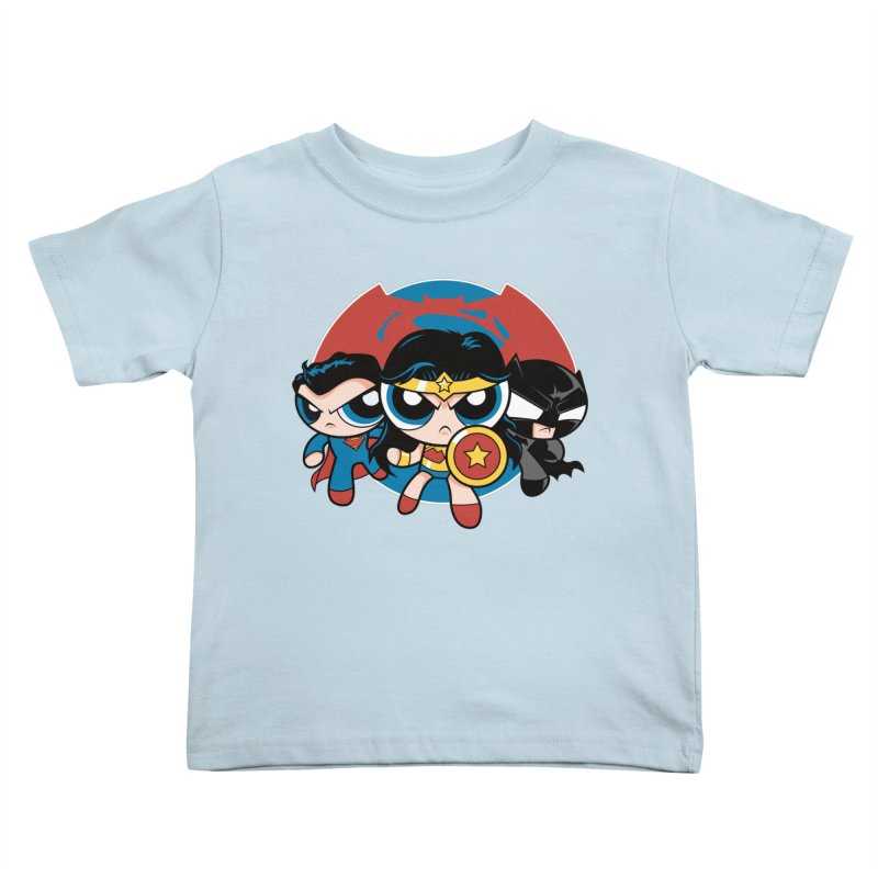 Powderpuff Trinity Kids Toddler T-Shirt by foureyedesign shop