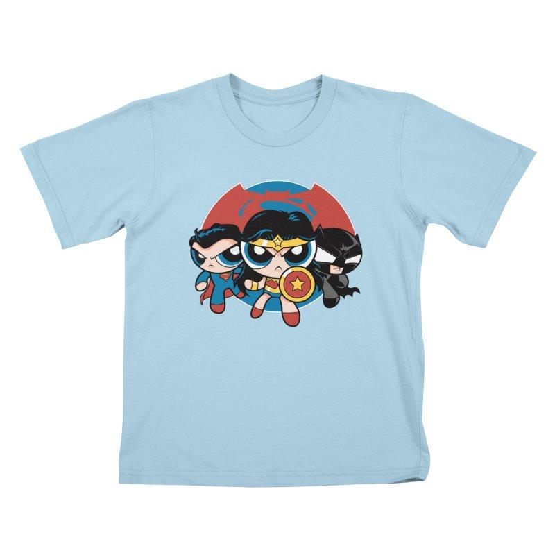 Powderpuff Trinity Kids T-shirt by foureyedesign's shop