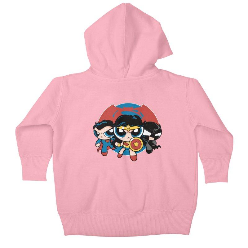 Powderpuff Trinity Kids Baby Zip-Up Hoody by foureyedesign's shop