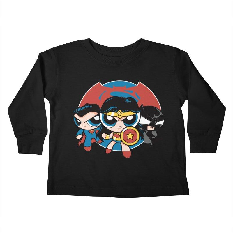 Powderpuff Trinity Kids Toddler Longsleeve T-Shirt by foureyedesign's shop