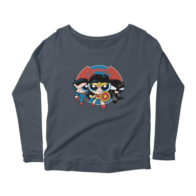 Powderpuff Trinity Women's Scoop Neck Longsleeve T-Shirt by foureyedesign's shop