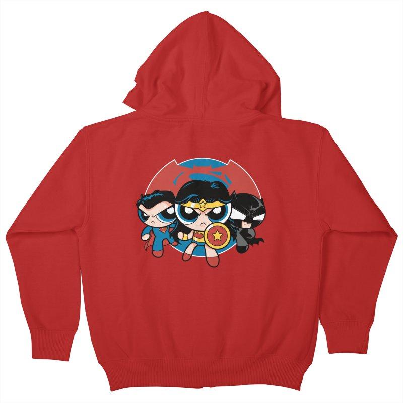 Powderpuff Trinity Kids Zip-Up Hoody by foureyedesign's shop