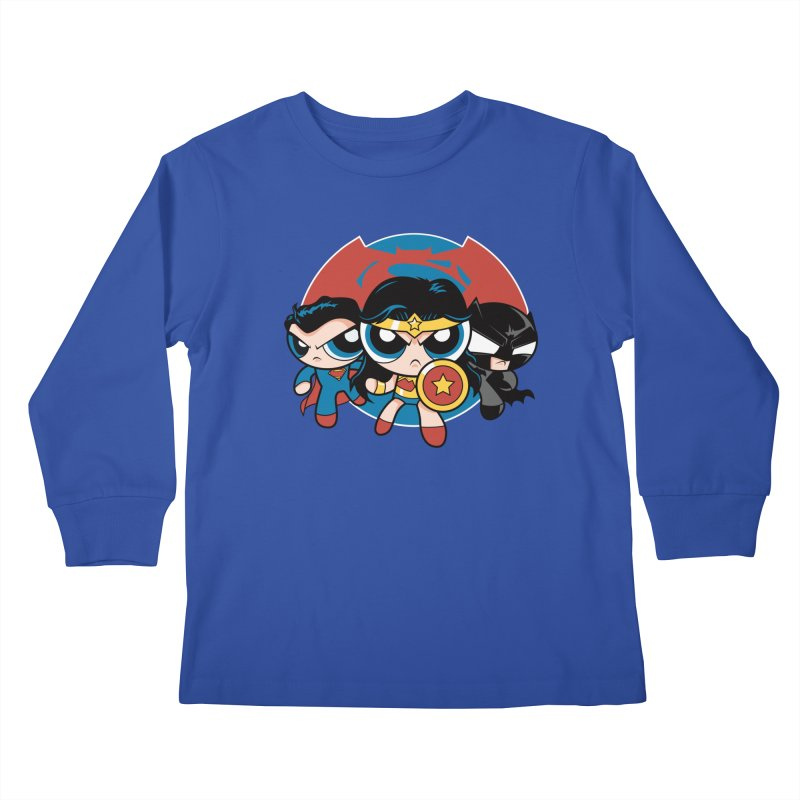 Powderpuff Trinity Kids Longsleeve T-Shirt by foureyedesign's shop