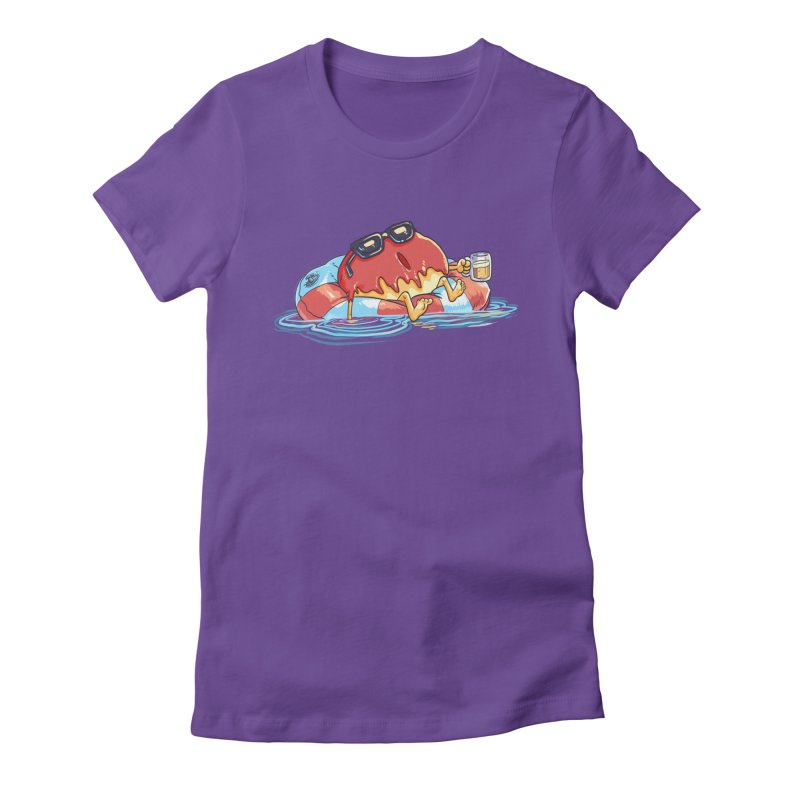 Donut's Day Off Women's Fitted T-Shirt by foursixsix's Artist Shop